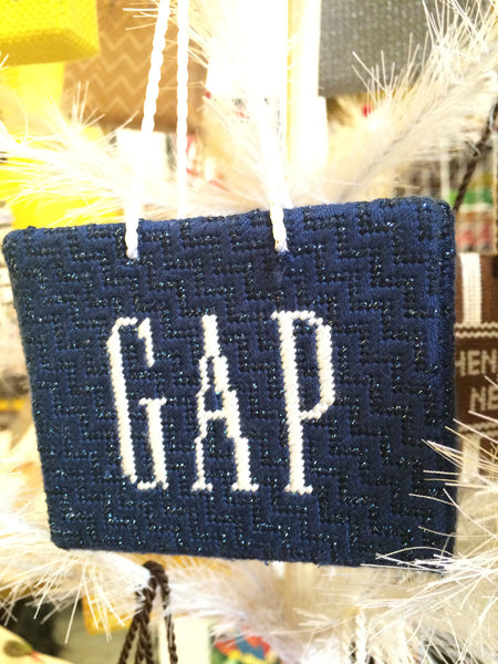 Gap Shopping Bag Ornament