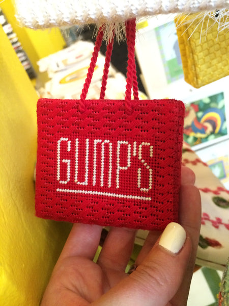 Gumps Shopping Bag Ornament