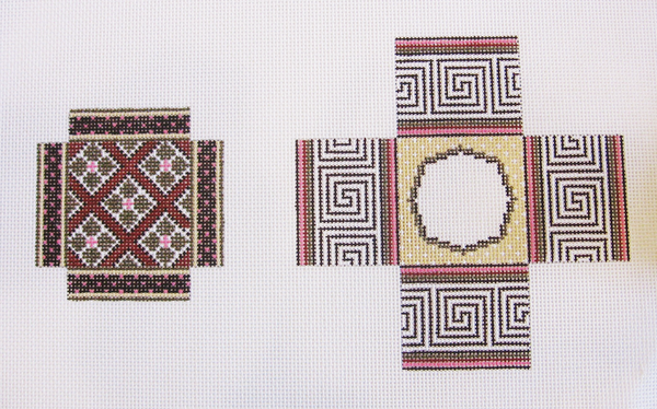 Needlepoint Small Asian Design Box Canvas
