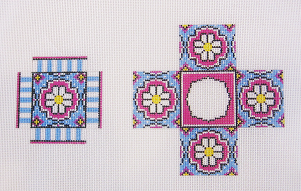 Needlepoint Small Daisy Box Canvas