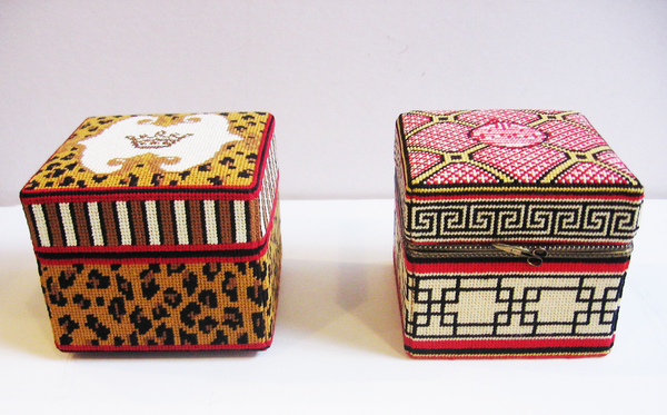 Large Square Asian Design Box