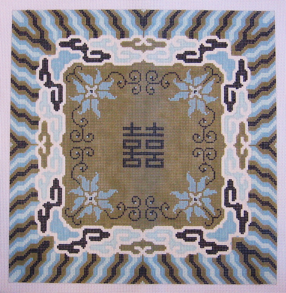 Needlepoint Double Happiness Canvas
