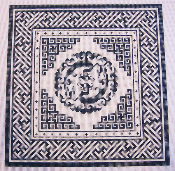 Needlepoint Double Dragon Canvas