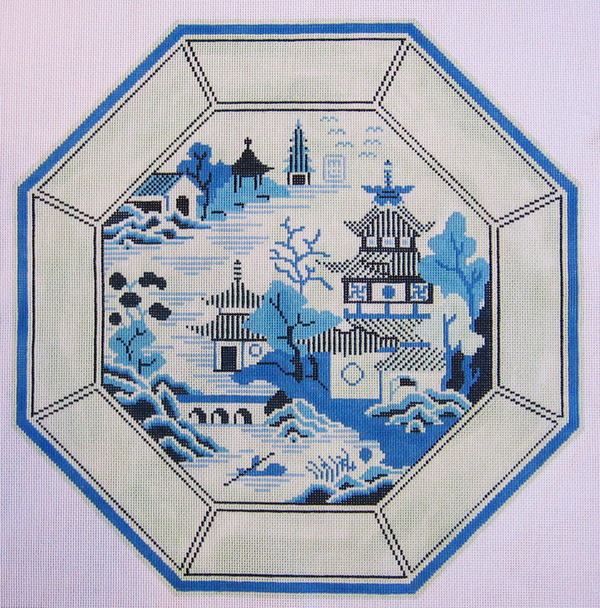 Needlepoint Nanking Plate Canvas