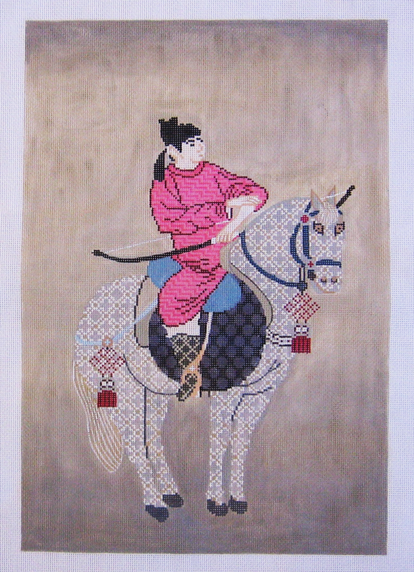 Needlepoint Rider with Horse Canvas