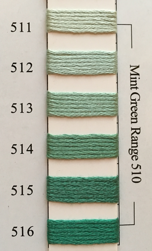 Needlepoint Inc Silk Thread Mint Green Range 510