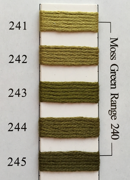 Needlepoint Inc Silk Thread Moss Green Range 240