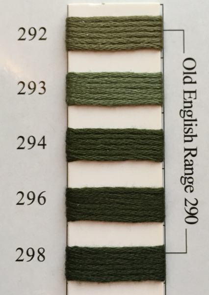 Needlepoint Inc Silk Thread Old English Range 290