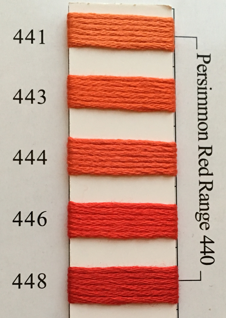 Needlepoint Inc Silk Thread Persimmon Red Range 440