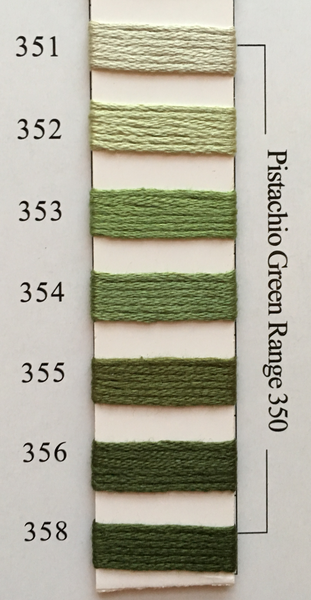 Needlepoint Inc Silk Thread Pistachio Green Range 350