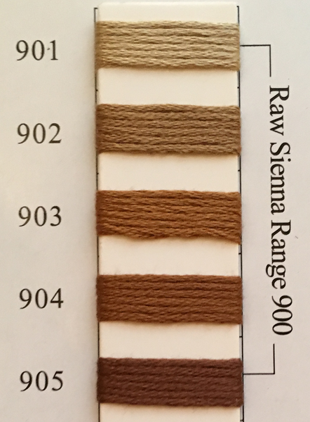 Needlepoint Inc Silk Thread Raw Sienna Range 900