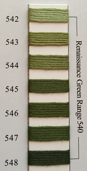 Needlepoint Inc Silk Thread Renaissance Green Range 540