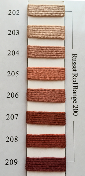 Needlepoint Inc Silk Thread Russet Red Range 200