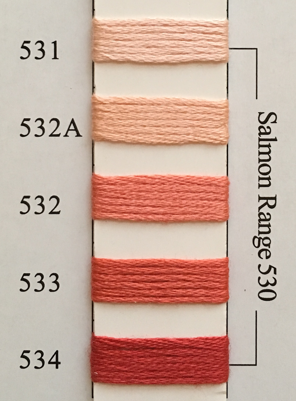 Needlepoint Inc Silk Thread Salmon Range 530