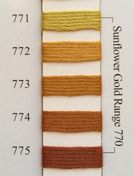 Needlepoint Inc Silk Thread Sunflower Gold Range 770