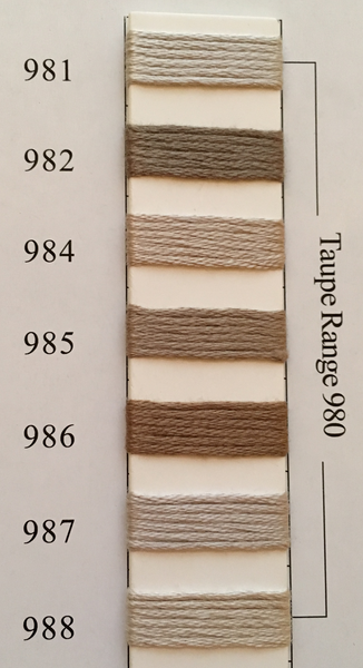 Needlepoint Inc Silk Thread Taupe Range 980