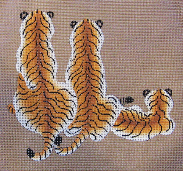 Needlepoint Tiger Family Canvas