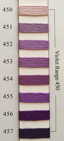 Needlepoint Inc Silk Thread Violet Range 450