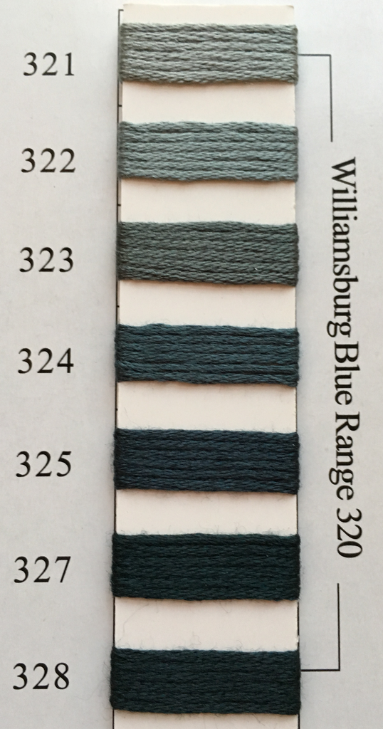 Needlepoint Inc Silk Thread Williamsburg Blue Range 320