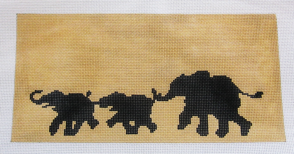 Needlepoint Elephants Canvas