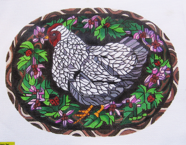 Needlepoint Hen Canvas