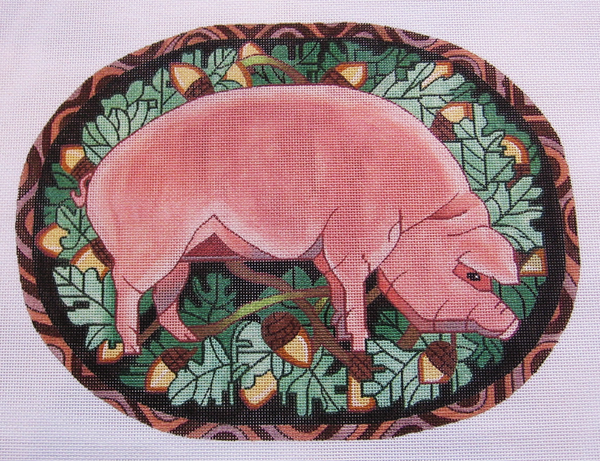 Needlepoint Pig Canvas