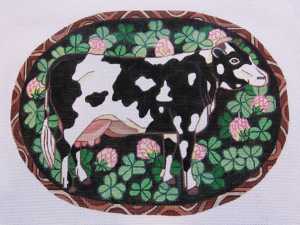 Needlepoint Cow Canvas