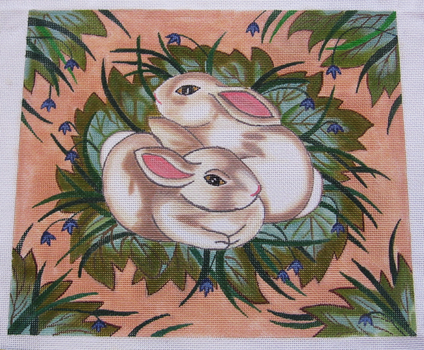 Needlepoint Bunnies Canvas