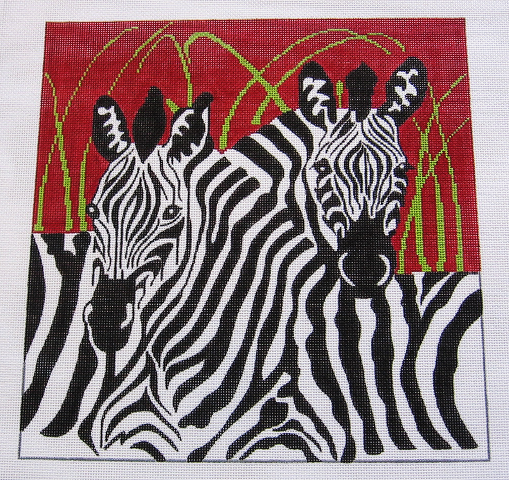 Needlepoint Zebras Canvas