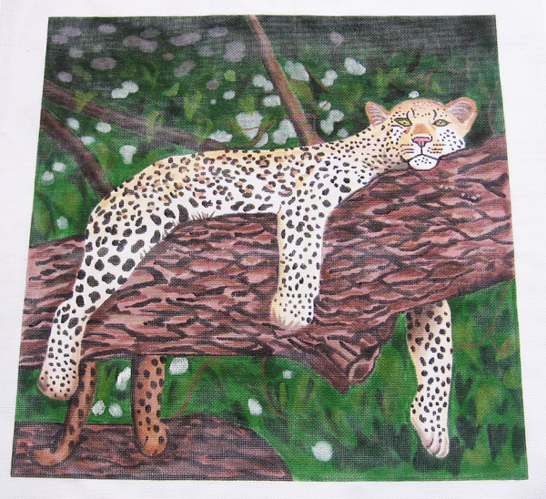 Needlepoint Leopard Canvas