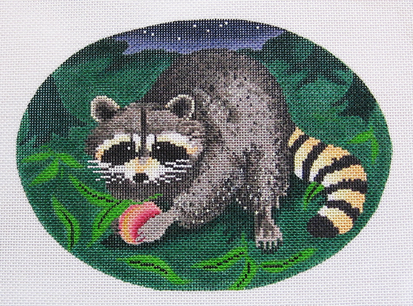 Needlepoint Raccoon Canvas