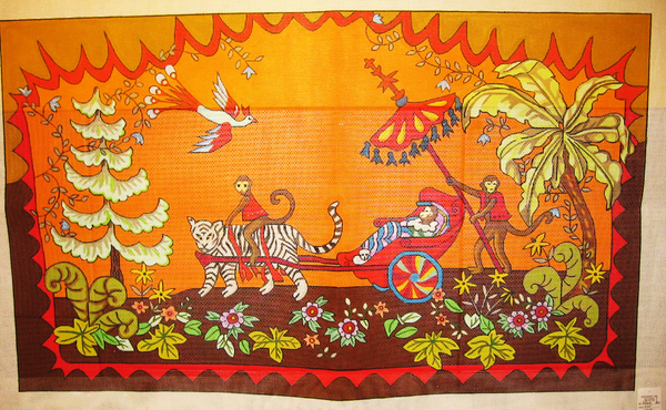 Needlepoint Raj Tiger Canvas