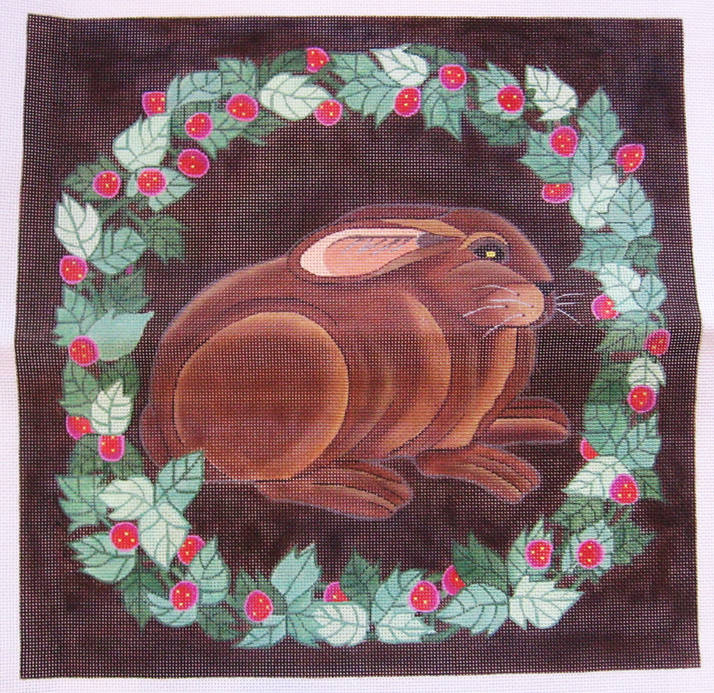 Needlepoint Brown Bunny Canvas
