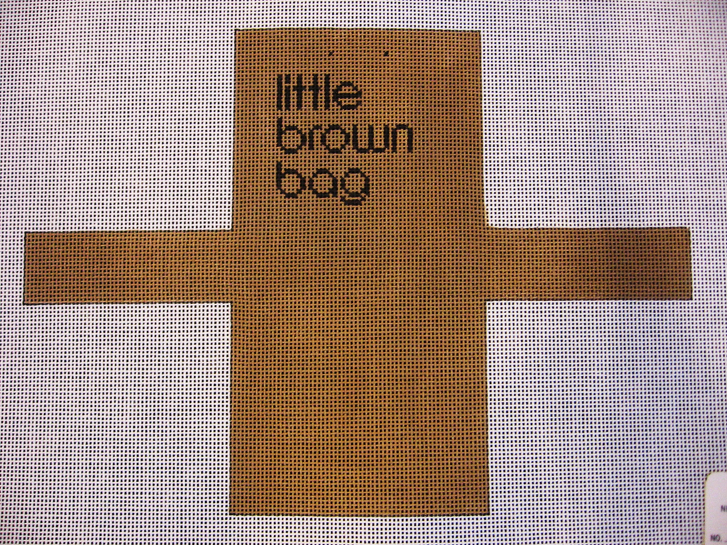Needlepoint Bloomingdale's Shopping Bag Ornament Canvas