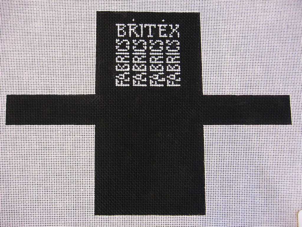 Needlepoint Britex Shopping Bag Ornament Canvas