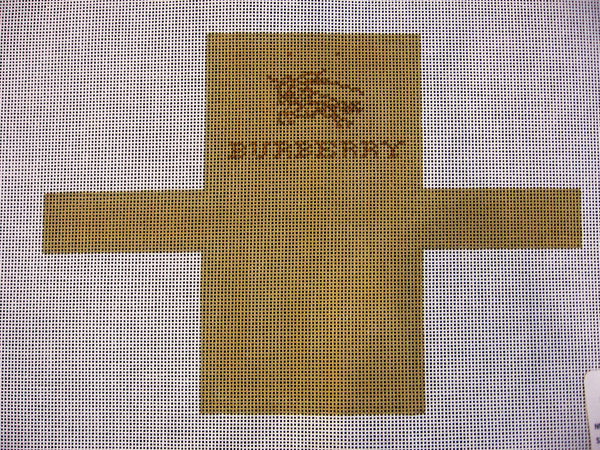 Needlepoint Burberry Shopping Bag Ornament Canvas