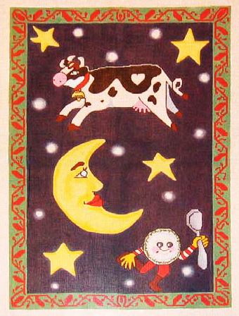 Needlepoint Cow jump over the moon Canvas