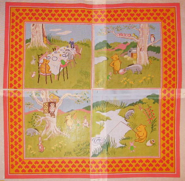Needlepoint 4 Pieces Pooh Rug Canvas