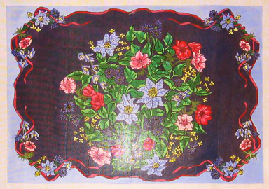 Needlepoint Floral Rug Canvas