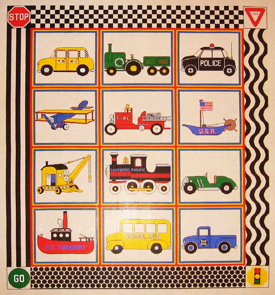 Needlepoint Transportation Canvas