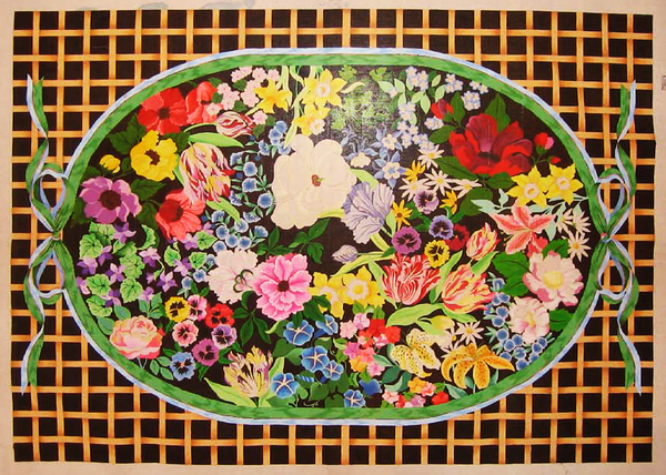 Needlepoint Marcy Floral Canvas