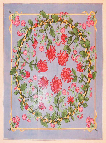 Needlepoint Red Carnation Canvas