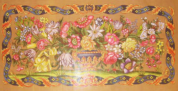 Needlepoint French Floral Canvas