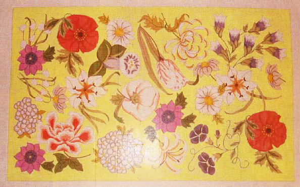 Needlepoint English Floral Canvas