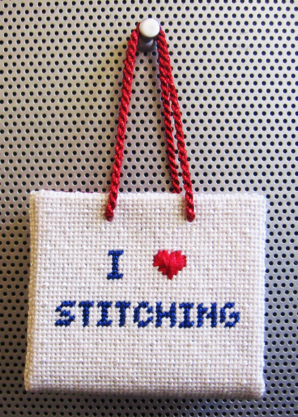 I Love Stitching Shopping Bag