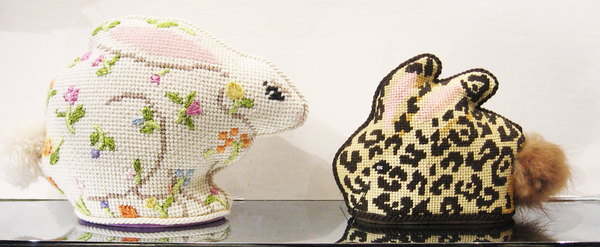 Needlepoint Leopard Bunny Canvas