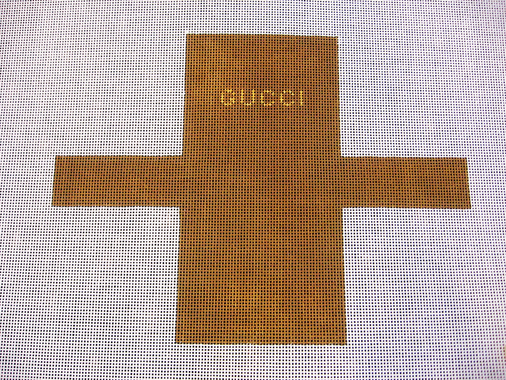 Needlepoint Gucci Shopping Bag Ornament Canvas