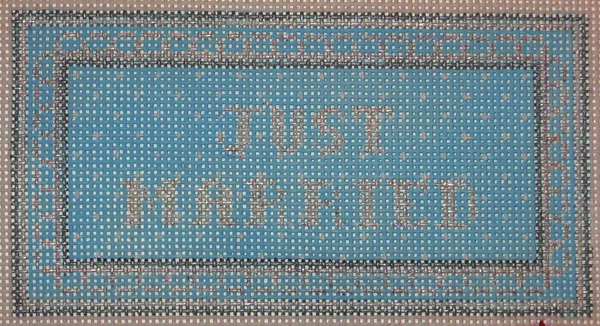 Needlepoint Just Married Canvas