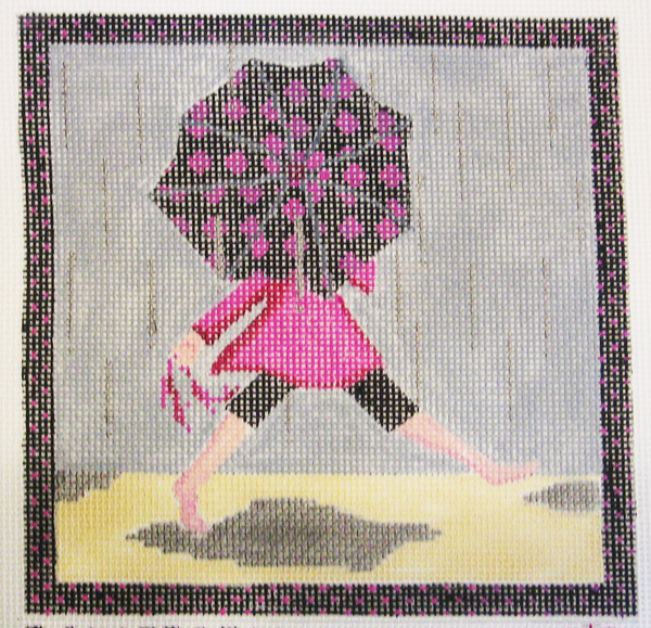 Needlepoint Rainstorm Canvas