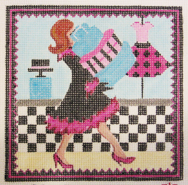 Needlepoint Shopping Canvas